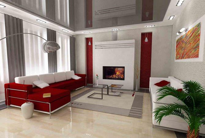 дизайн квартиры с применением искуственного камня