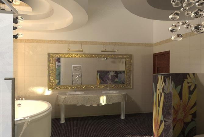 дизайн квартиры в бардовом цвете