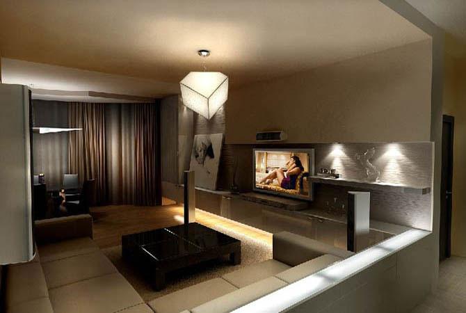 современные интерьеры однокомнатных квартир фото