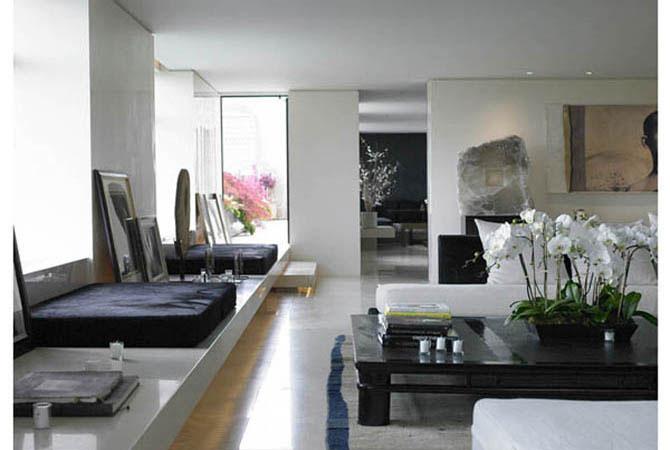 черно-белый интерьер квартир фото