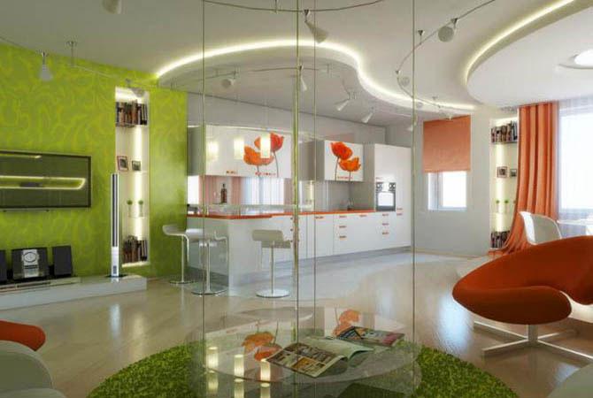 дизайн комнат с модульными стенками