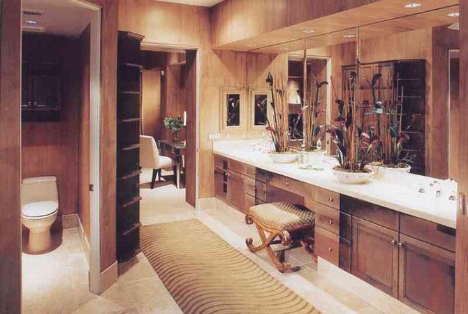 интерьер современный ванной комнаты