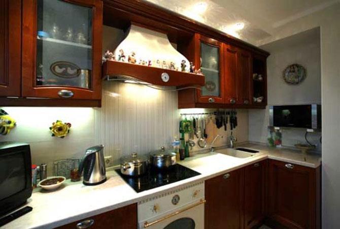 оформление интерьераи дизайна в однакомнотной малогаборитной квартире