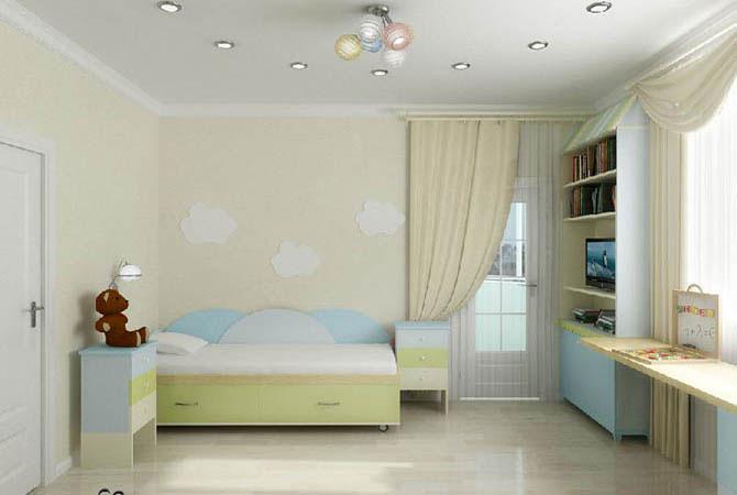 дизайн желтых потолков квартир