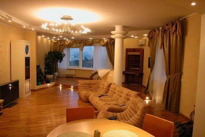 гипсокартонновые подвесные потолки интерьер квартир