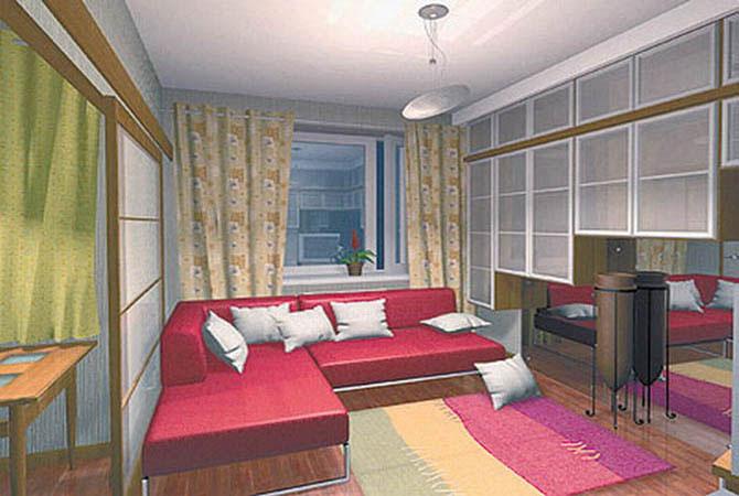 поиск дизайн интерьера гостинной-кухни в частном доме