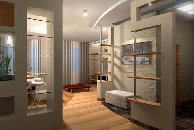 современные интерьеры однокомнатных квартир