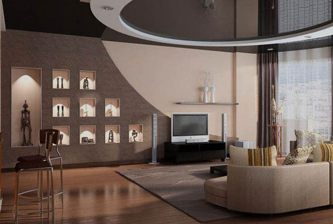 дизайн совмещение комнаты с кухней